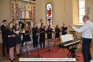 Jugendchor Greiz beim Sommerfest in Caselwitz im Mai 2019