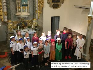 Kinderchor Greiz beim Musical Jona in Fraureuth